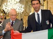 Napolitano consegnato tricolore Buffon, capitano