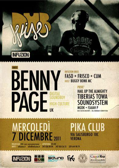 DUBWISE feat. BENNY PAGE (Digital Soundboy / High Culture | Uk) @ Pika Club (7/12/2011)