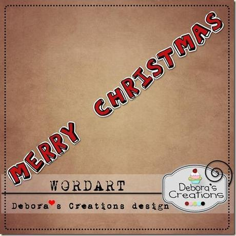 Preview Wordart Merry Christmas