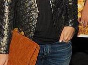 Star Style// Rachel Bilson Emma Roberts maxi clutch MiuMiu