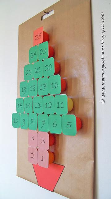 Calendario dell 39 avvento fai da te con i vasetti dello for Calendario avvento fai da te