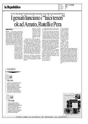 Mario Monti: niente di nuovo sotto il sole Vaticano