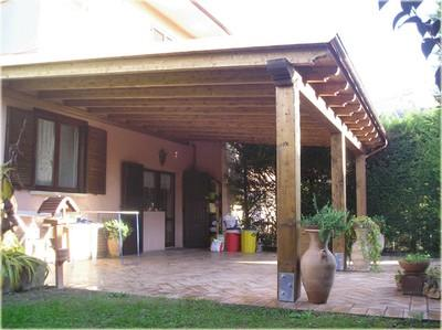 Tettoie in legno paperblog for Foto case con giardino