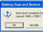 Vuoi ripristinare posizione originale delle icone desktop (Desktop Restore)
