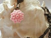 Collana minimal: Fiore rosa!