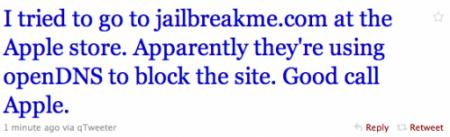 Apple blocca il sito di Jailbreakme negli Apple Store