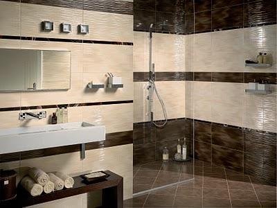 Bagno Marrone Moderno : Bagno moderno marrone e beige: bagno moderno marrone e beige bagno