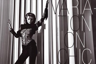 VARIATION ON CHIC... Abbey Lee Kershaw by Mario Sorrenti for Vogue Italia August 2010