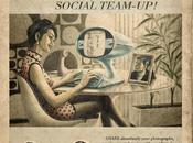 Sunday Creativity: Facebook, Twitter, Youtube Skype Vintage Retro