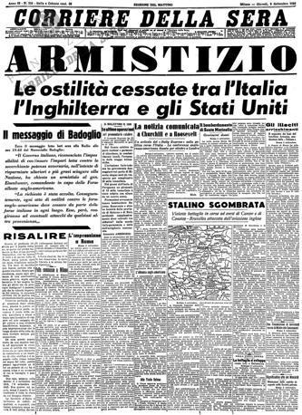 Le prime pagine storiche de il corriere della sera for Corriere della sera arredamento