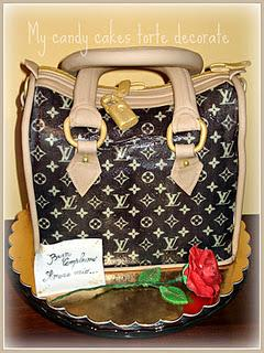 Louis Vuitton brown cake- Torta borsa Louis Vuitton marrone