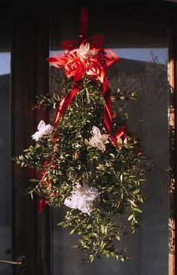 Addobbi per la porta con il pungitopo paperblog - Addobbi natalizi per la porta ...