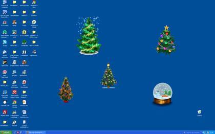 Alberi di natale animati luccicanti per abbellire il for Natale immagini per desktop