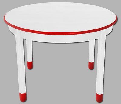 Tavolo Tondo Allungabile Laccato Bianco Match Design