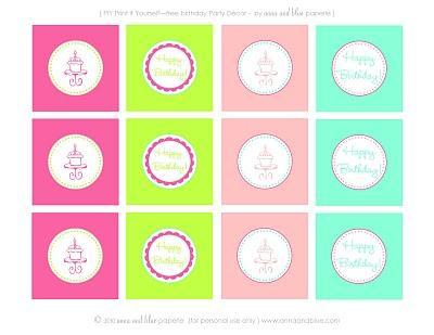 Decorazioni - free printables per compleanno
