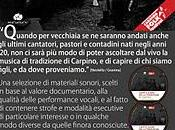 """tour """"Canti suoni della tradizione Carpino"""" inizia stasera Foggia"""