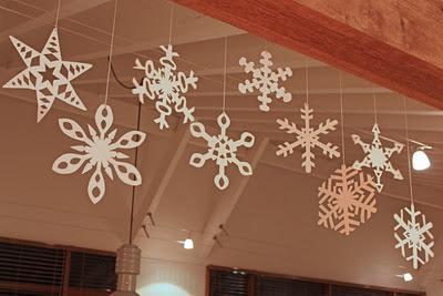 Fiocchi Di Neve Di Carta Per Bambini : Consiglio creativo di carta: nevica in mansarda ma sono fiocchi di