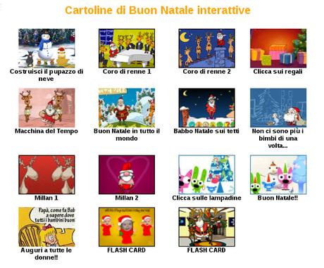 Cartoline di Natale animate per gli auguri via email