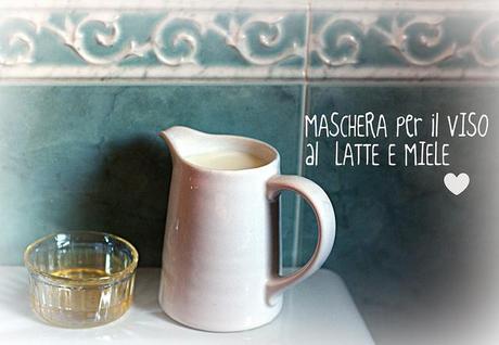 MASCHERA VISO LATTE E MIELE