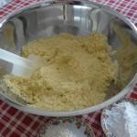mandorle e zucchero passate al mixer