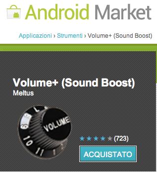 Problema audio altoparlante basso Galaxy Nexus : Risolto con Volume+
