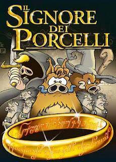Una serie di accendini ispirati alla parodia de Il Signore dei Porcelli
