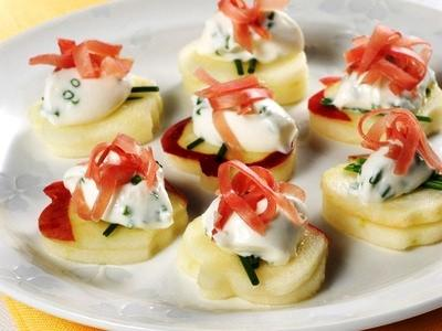 Un antipasto diverso e sfizioso le tartine di mele con for Antipasti natalizi ricette