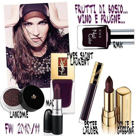 Autunno Inverno 2010-11 - make up viola - dark lady II