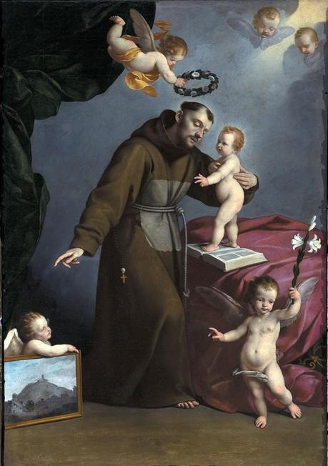 Carlo Ceresa, Sant'Antonio da Padova e Gesù Bambino, Gorlago - Chiesa S. Pancrazio, Foto Marco Mazzoleni