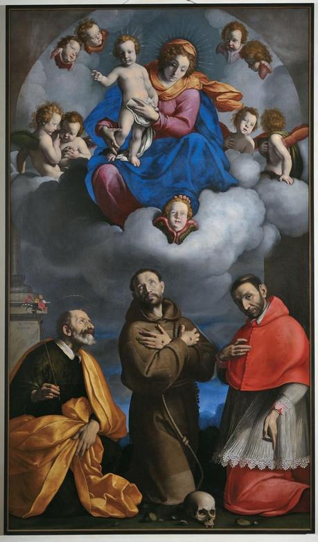 Carlo Ceresa, Madonna in gloria e santi, Bergamo - Chiesa S. Caterina, Foto Marco Mazzoleni