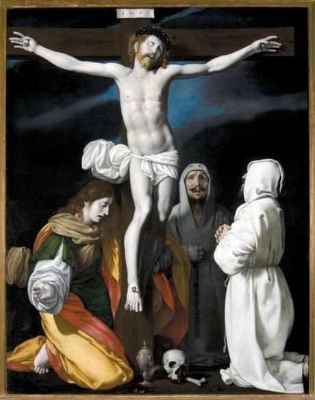 Carlo Ceresa, Cristo in croce con santa Maria Maddalena e due disciplini, Mapello - Chiesa S. Michele, Foto Marco Mazzoleni
