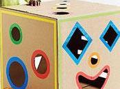 scatole cartone giocattoli bambini