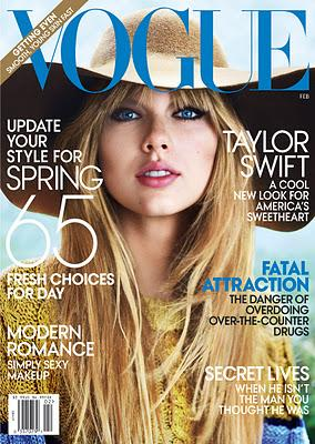 Taylor Swift sulla cover di VOGUE!