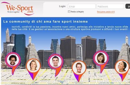 we sport We Sport il social network per gli amanti dello sport