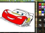 Colora Saetta Mcqueen personaggi Cars. Gioco bambini