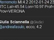 (primo) terremoto tempi Twitter