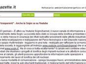 E-gazette, Bonifiche trasparenti, Sogin guidata Giuseppe Nucci sbarca Youtube