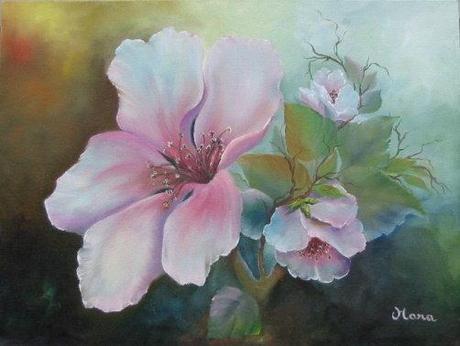 Corsi di pittura ad olio con l 39 artista italo americana for Fiori dipinti a olio