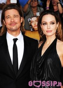 Brad Pitt, Angelina Jolie, George Clooney e Stacy Keibler agli Awards 2012.