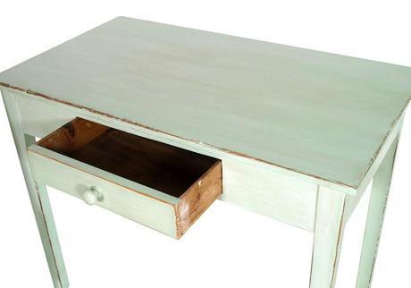 Studio shabby chic decapato scrittoio sedia libreria verde salvia design myartistic paperblog - Mobili antichizzati bianchi ...