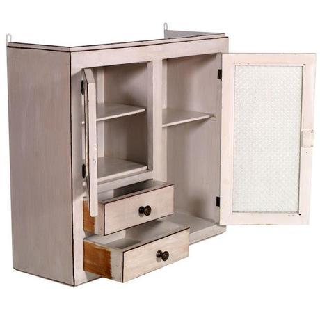 Vetrina shabby chic alzata cucina da parete design myartistic paperblog - Mobili antichizzati bianchi ...