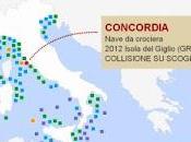 Costa Concordia altre: tutti relitti navali Mediterraneo. Infografica interattiva