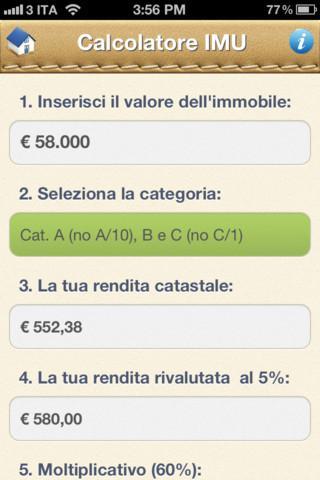 Una nuova app per calcolare la nuova tassa sulla casa imu paperblog - Valore commerciale immobile da rendita catastale ...