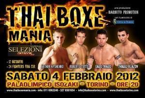 4 febbraio Thai Boxe Mania al Palaolimpico