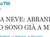 """finto Alemanno Twitter: Emergenza Neve, Abbandonate città"""""""
