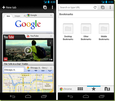ChromeAndroid thumb Google Chrome ufficialmente disponibile per Android! Download now!
