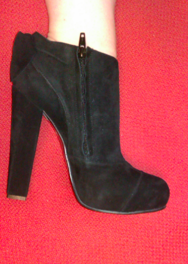 "ShoeRoom #40 Benetton Black ""Block Heeled"" Booties"