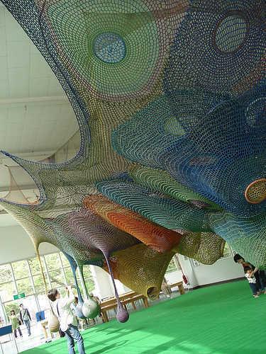 castle of nets crochet art Playground Crochet Artist Toshiko Horiuchi MacAdam