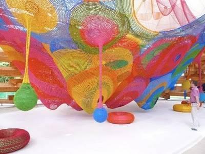 crochet net art Playground Crochet Artist Toshiko Horiuchi MacAdam