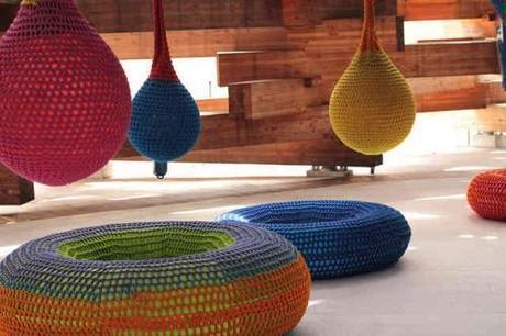 crochet art horiuchi 500x333 Playground Crochet Artist Toshiko Horiuchi MacAdam